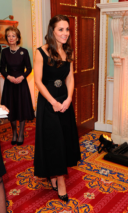 The Duchess of Cambridge wore a black Preen dress at the Place2Be Wellbeing in Schools Awards at Mansion House in London. The royal loves the silhouette so much she has the same dress in red!