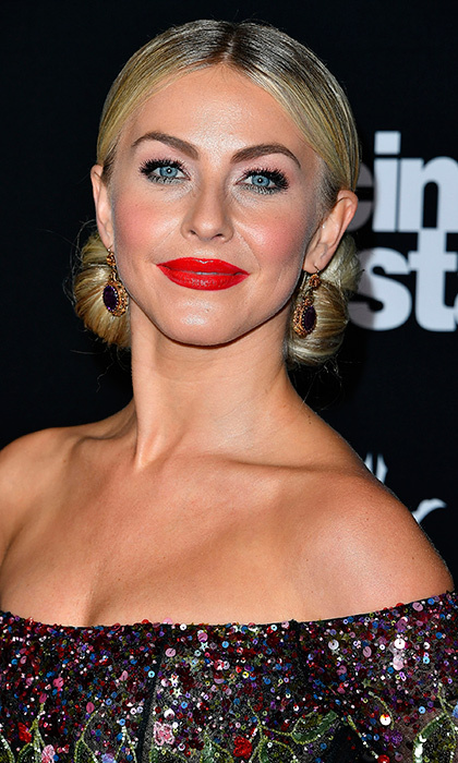 <b>Julianne Hough</b> was a bronzed beauty with a flawless red lip at the ABC's <I>Dancing With The Stars</I> Season 23 Finale at The Grove in Los Angeles on November 22. 