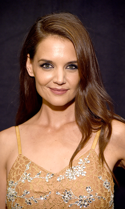 Actress <b>Katie Holmes</b> chose muted hues with a pretty mauve lip color at Moet & Chandon Celebrates The 2016 Young Women's Honors at Marina del Rey Marriott on November 19 in Marina del Rey, California. 