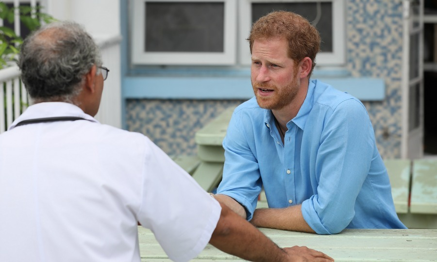 Harry spoke with Dr. Kumar at the Queen Elizabeth hospital about the stigma behind HIV testing that surrounds the young people Barbados and the island's success with eradicating mother to child HIV transmission.  