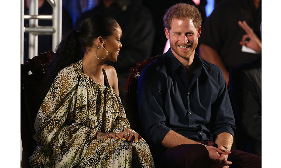 Prince Harry and Rihanna seemed to hit it off at the Golden Anniversary Spectacular Mega concert in Barbados.