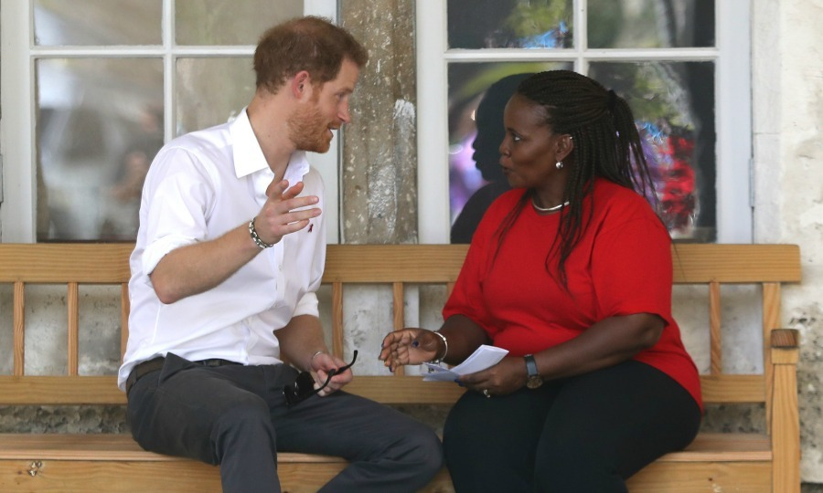 "Prince Harry and councillor Ministry of Health HIV Program Susette Neblett-Straughn spoke during the ""Man Aware"" event held at the Barbados National HIV/AIDS Commission. The Prince, who is an advocate for HIV/AIDs awareness, spoke to the health official about the stigma behind the disease and the changes made on the island to combat the illness. 