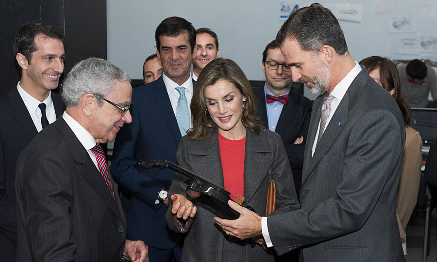 The Spanish royals paid a visit to the Science and Technology Park (UPTEC) at the Porto University on the second day of their trip to Portugal. 