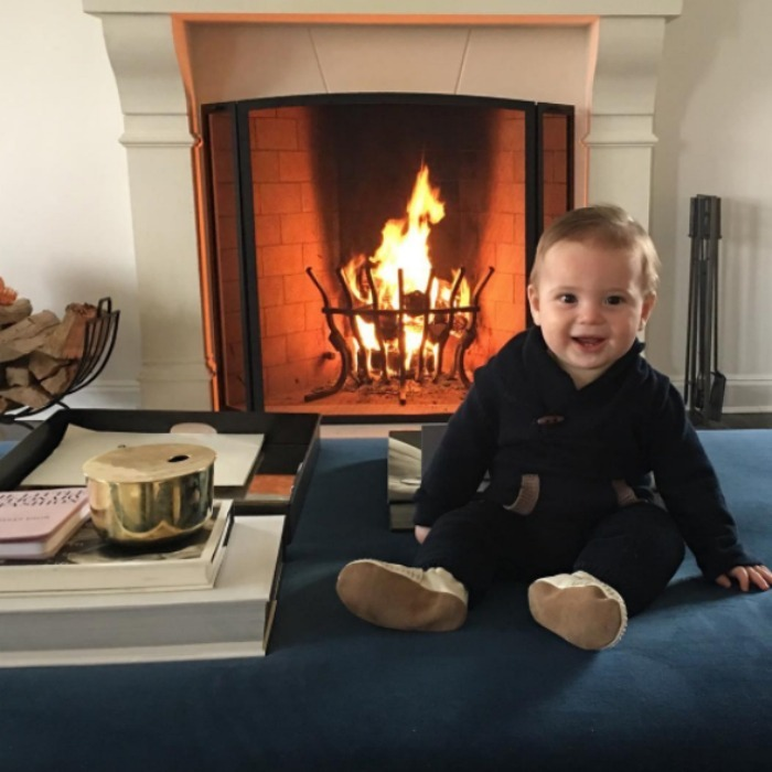 "Someone's a big boy! Ivanka celebrated son Theo's latest milestone with a sweet photo of him perched up by a fireplace. The proud mama captioned the photo, ""I cannot believe that Theodore is 8 months old today! Happy birthday little teddy bear!""