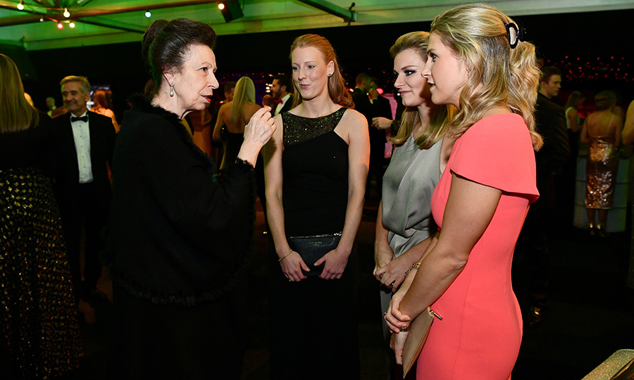 Princess Anne met with British Olympic hockey players at the Team GB Ball at Battersea Evolution in London, England. 