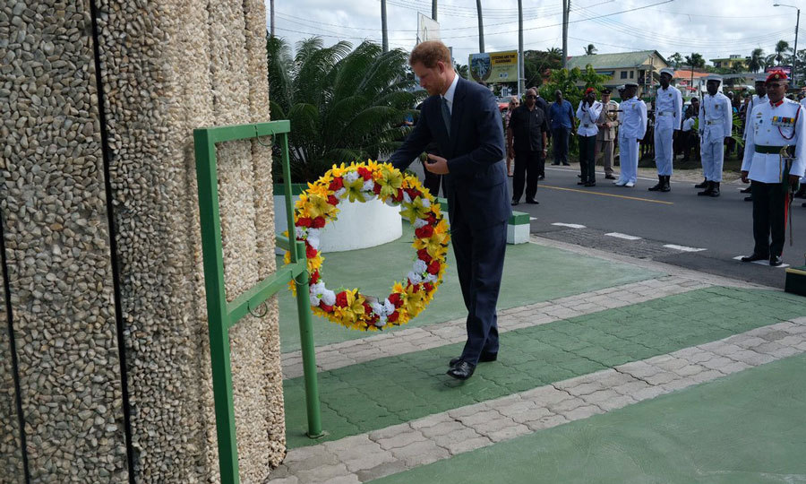 Prince William's brother laid a wreath at the Independence Monument, in honor of Guyana celebrating 50 years of Independence this year.