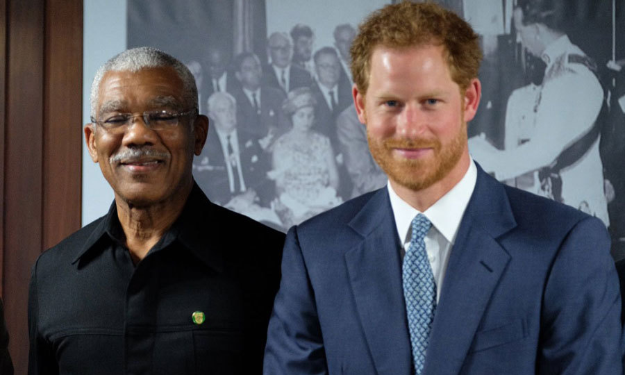 Queen Elizabeth's grandson met with President David Granger on his first day in Guyana. 