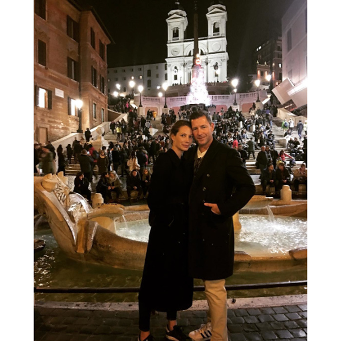 "That's amore! <a href=""https://us.hellomagazine.com/tags/1/christy-turlington/""><strong>Christy Turlington</strong></a> posted this cute snap of herself and her husband Ed Burns enjoying the lights in Rome. 