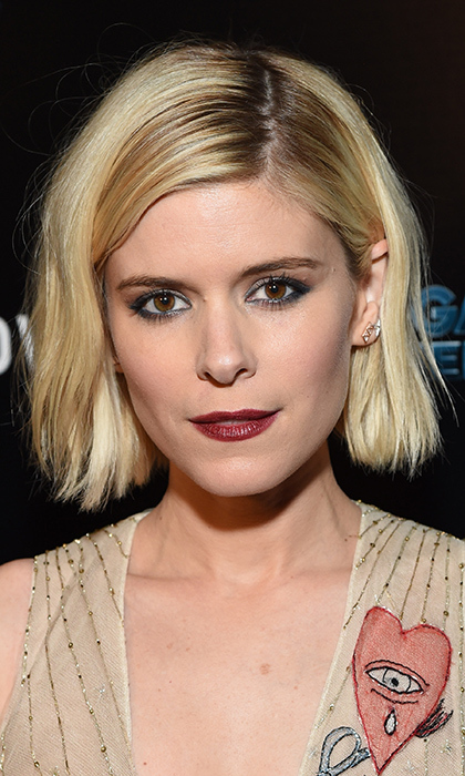 Kate Mara sported a dark lip and a smoky eye for  the Los Angeles Premiere of 'Man Down'. 