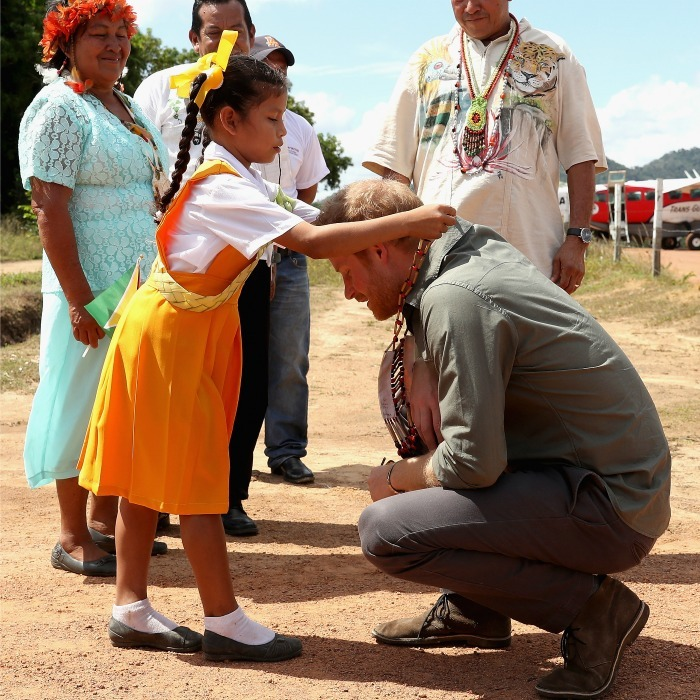 William's brother was presented with a special necklace by a young girl during his visit to the Surama Village in the Guyana Hinterland.
