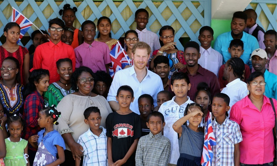 It's all about the kids! On the final morning of his 15-day, seven country Caribbean Tour, Prince Harry stopped by the Joshua House. 