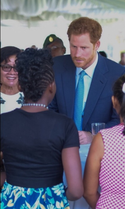 Harry and First Lady Sandra Granger attended a reception and met with victims of trafficking and abuse.