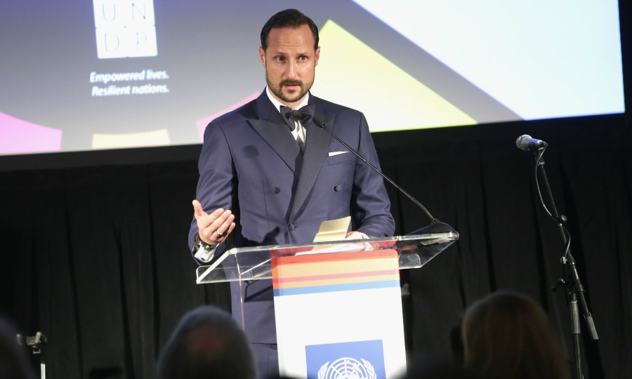 Crown Prince Haakon of Norway made his way to NYC for the inaugural United Nations Development Programme (UNDP) Global Goals Gala on December 5. 