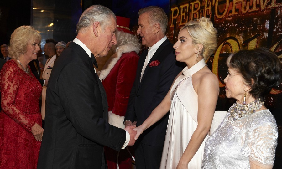 Lady Gaga met Prince Charles as well during the Royal Variety Performance. 