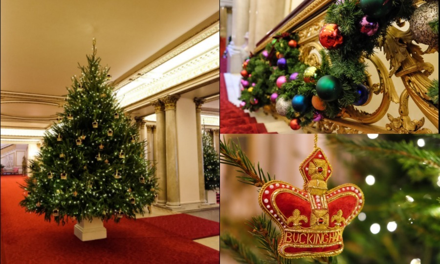 the british royal family homes get holiday makeovers - British Christmas Tree Decorations