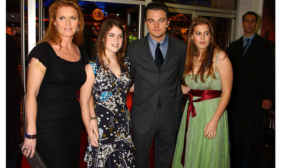 Never let go! The women of York posed with Leonardo DiCaprio at the 2004 UK premiere of <i>The Aviator</i> in London. 