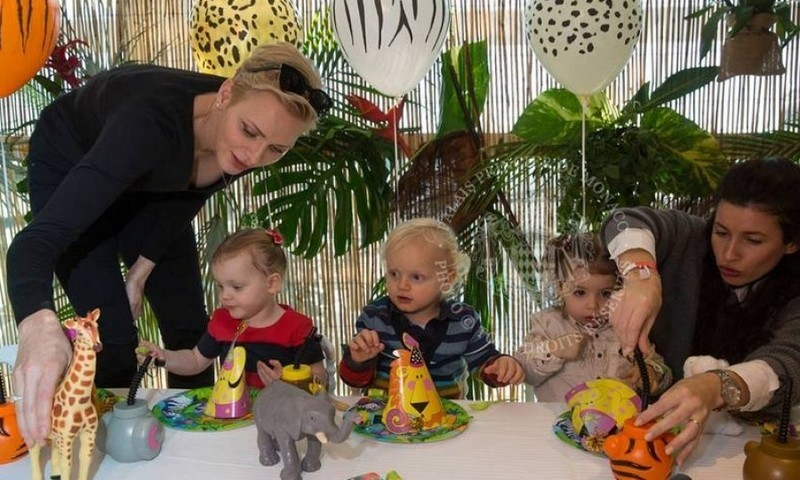 Prince Jacques and Princess Gabriella had a wild time at their jungle-themed surprise second birthday party on December 7. 