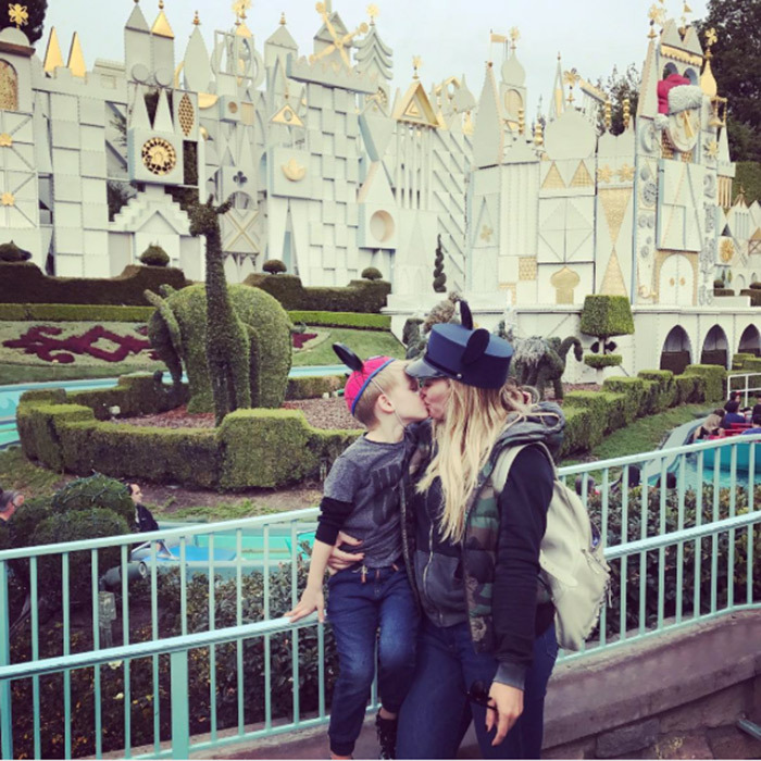 "Hilary Duff enjoyed an outing to Disneyland with her son Luca. Attached to the sweet mother-son snap, the <i>Younger</i> star penned, ""Happiest happiest happiest happiest happiest happiest happiest happiest place on earth! We love you @disneyland.""