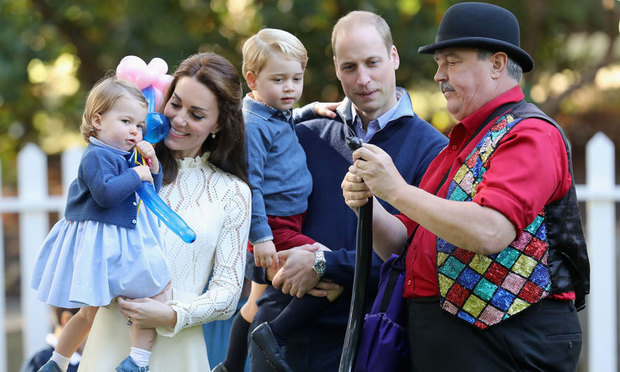 The Duke and Duchess showed off their parental skills at a children's party during their royal tour of Canada.