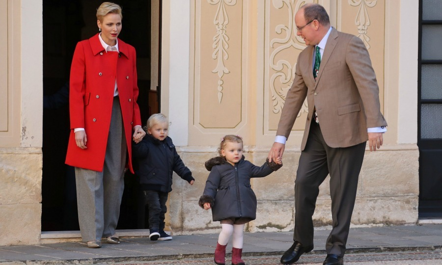 December 2016: Prince Jacques and Princess Gabriella stepped out for the annual Christmas gifts distribution ceremony with their parents Princess Charlene and Prince Albert.
