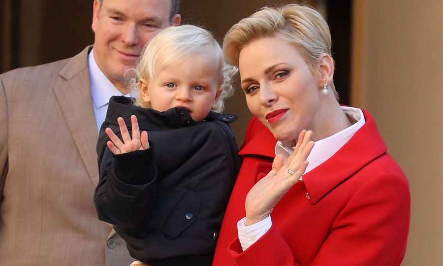 Like mother, like son! Princes Jacques gave a royal wave.