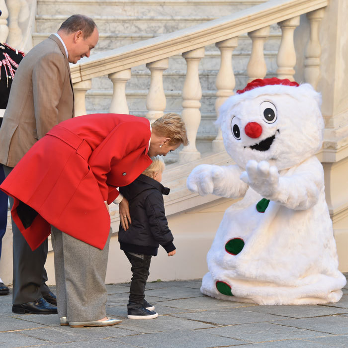 Unlike his sister, who left the Christmas celebration early, Jacques enjoyed meeting the holiday characters.