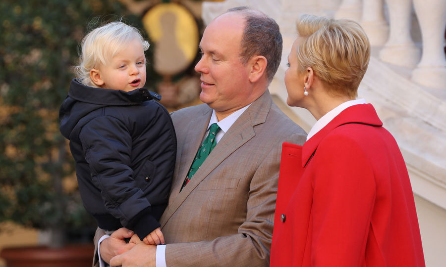 Albert and Charlene doted on their son as he excitedly took in the holiday festivities.