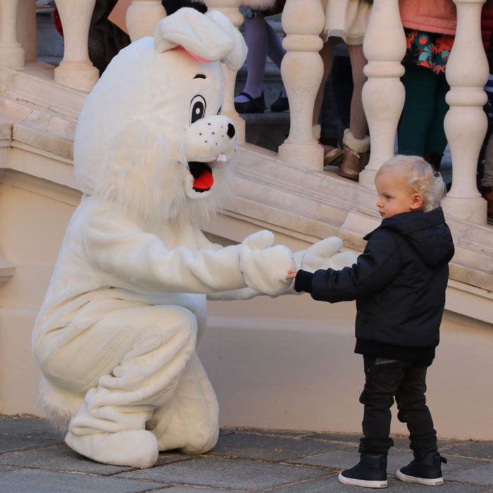 Jacques also met the white bunny rabbit that had inadvertently frightened his sister Gabriella.