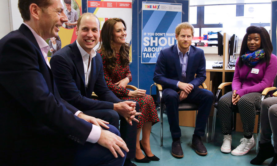 The royals joined group sessions to hear from young people about their experience with The Mix's services.