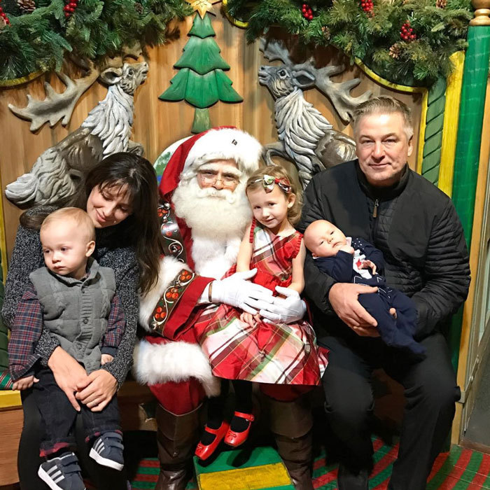 "Hilaria and Alec Baldwin's young children had mixed reactions when it came to meeting Santa Claus this year! The mom-of-three shared a picture from the encounter writing, ""So nice to meet you Santa!! Carmen was SO excited, Rafa...will hopefully be excited next year....and Leo in his happy, baby, chubby lala land @macys.""