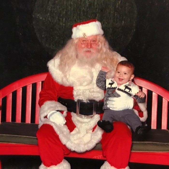"Santa baby! Boomer loved meeting Santa (just look at that smile) according to his mom. Nicole Phelps posted the cute photo on her Instagram with her caption: ""Well.... #Santa was a success!! #MerryChristmas.""