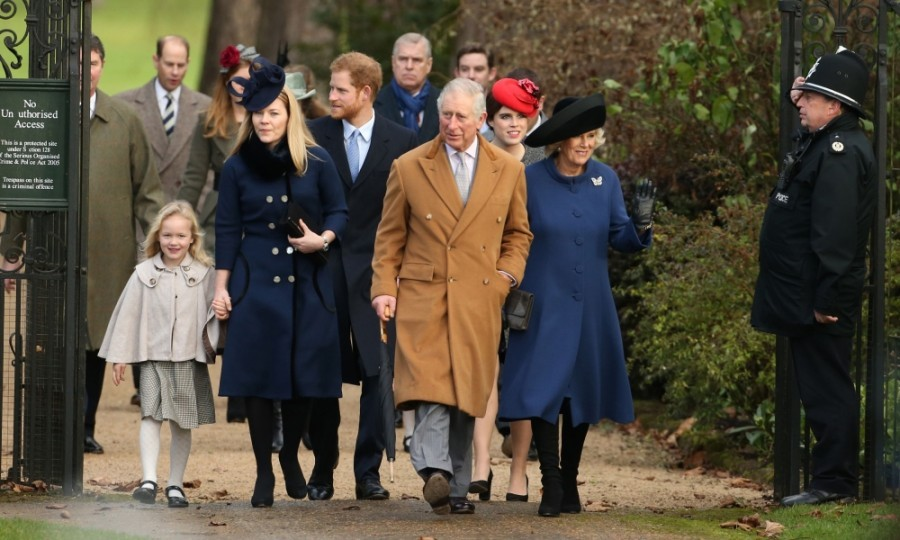 The royal family arrived for the Christmas day church service at St. Mary Magdalene Church on the Sandringham estate in Norfolk.