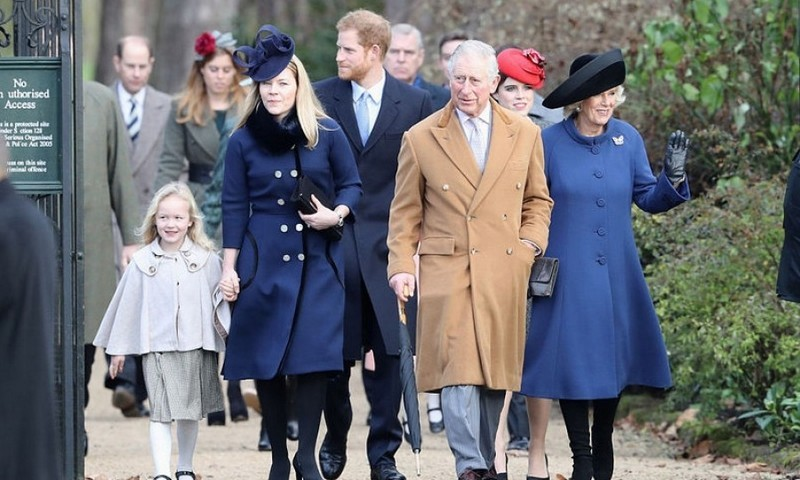 Prince Charles and Camilla led the way along with Autumn Phillips and her daughter Savannah. Autumn's sister-in-law Zara Tindall and Mike didn't attend this year's service after it was announced that they suffered a miscarriage earlier this week.