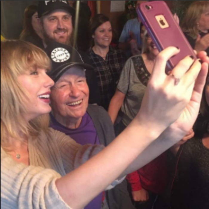 Taylor surprised her oldest fan and made it a Christmas to remember! The <i>Blank Space</i> singer surprised WWII veteran Cyrus Porter, 96, at his home in New Madrid, Missouri, with a performance inside of his home for him and his family. 