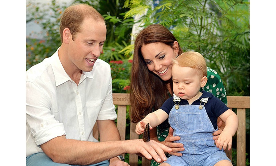 July 2014: Prince William and Kate released a family portrait of George during their time at London's National History Museum in honor of his first birthday. 