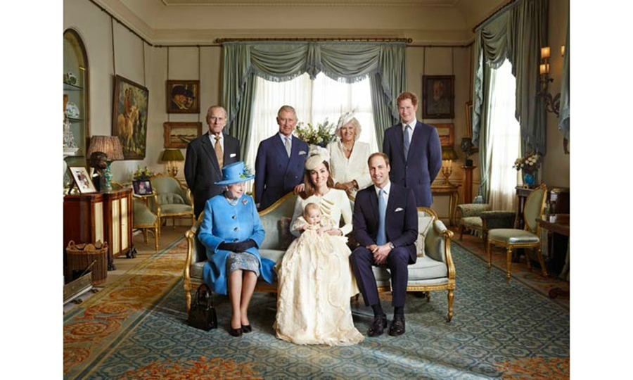 October 2013: Prince George posed with his family members including, parents Kate and William, Prince Harry, Prince Philip, Prince Charles, Camila Duchess of Cornwall and Queen Elizabeth. 