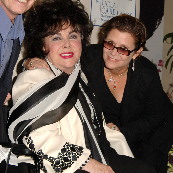 The actress's father, Eddie, famously divorced her mother in 1959 to marry Debbie's close friend Elizabeth Taylor, whom Carrie's mom once served as a matron-of-honor.