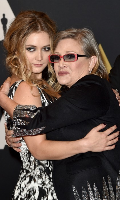Billie held her mother close during the Academy of Motion Picture Arts and Sciences' 7th annual Governors Awards in Hollywood. 