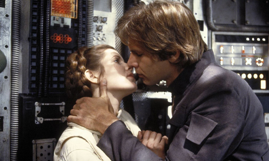 "In 2016, the actress revealed that she and her co-star Harrison Ford (right) were involved in a three-month secret affair. ""It was so intense,"" she told People magazine of the romance. ""It was Han and Leia during the week, and Carrie and Harrison during the weekend.""