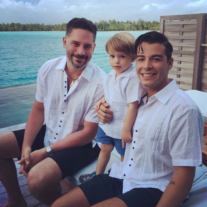 The <i>Modern Family</i> actress shared a photo of her favorites, husband Joe Manganiello and her son Manolo sporting matching guayabera shirts.