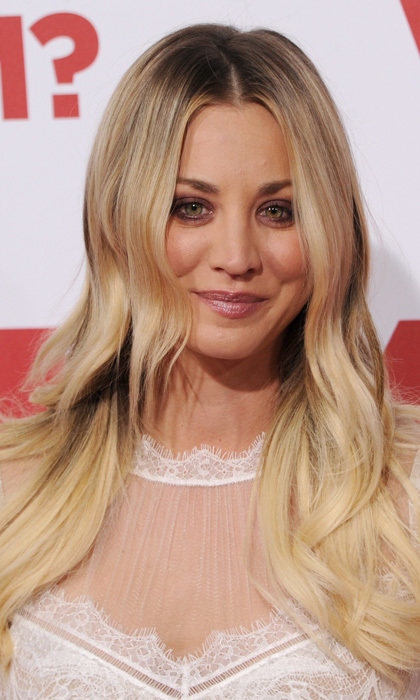 Kaley Cuoco opted for earth tones to make her hazel eyes pop at the premiere of 20th Century Fox's <i>Why Him?</i> in California. 