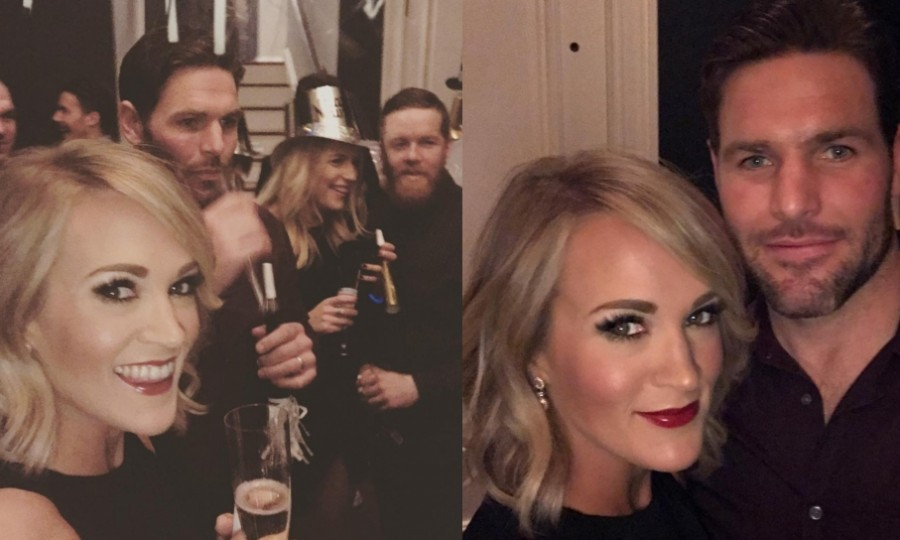 "Carrie Underwood kissed 2016 goodbye with her husband, hockey player Mike Fisher. The country singer took to Instagram to share some party pictures, writing: ""#nye happy #2017""