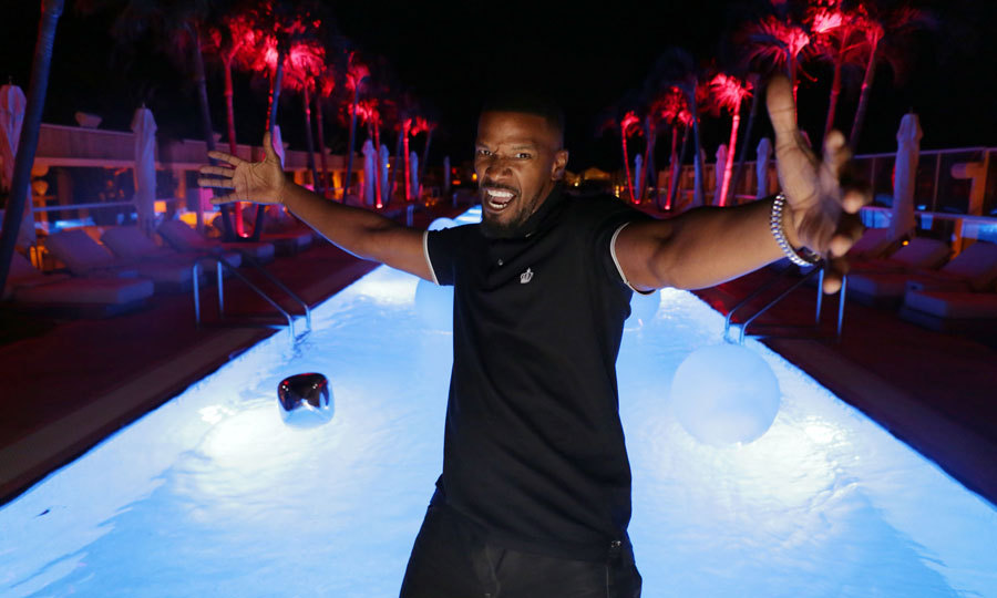 Jamie Foxx was partying in the city where the heat is on! The actor kicked off his New Year's Eve celebration at 1 Hotel South Beach in Miami.