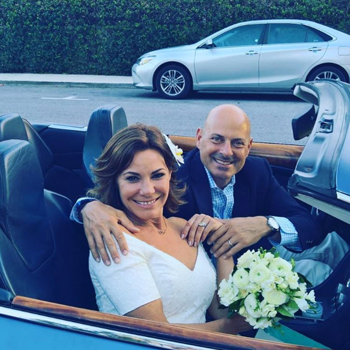 Bravo TV star Luann de Lesseps was joined by her former <i>RHONY</i> co-stars for her Palm Beach nuptials to Tom D'Agostino Jr. 