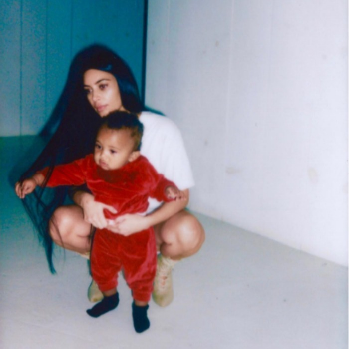"""Kim Kardashian has been all about family since making her return to social media. The reality TV star shared an intimate snap of her holding on to one-year-old son Saint with the sweet caption """"My son."""" Photo: Instagram/@kimkardashian"""