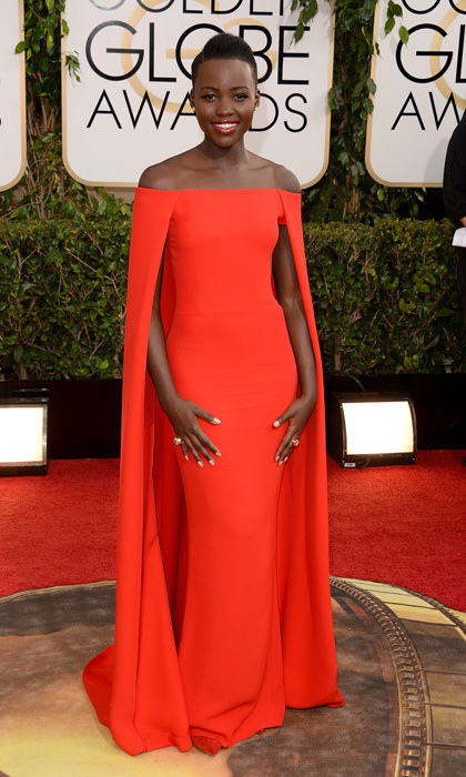 Lupita Nyong'o in Ralph Lauren, 2012