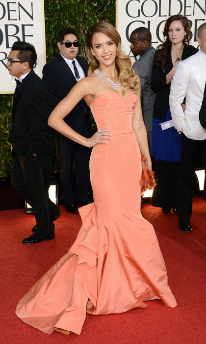 Jessica Alba in Oscar de la Renta, 2013