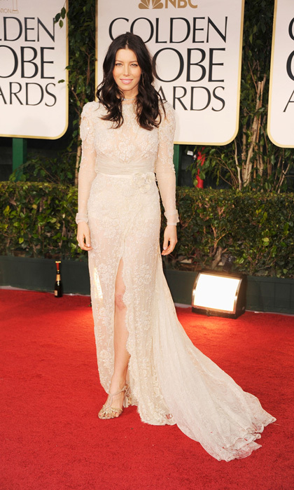 Jessica Biel in Elie Saab, 2012