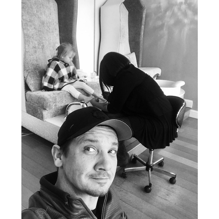"Jeremy Renner might play a superhero in the <i>Avengers</i>, but he's also a super dad! The actor treated his daughter Ava and friends to a sweet spa day and tea party. Sharing a picture of his little girl getting a pedicure, the Hollywood star penned, ""Thx ms katie @thepaintednail for girl spa day and tea party with all the little ladies #theonlydude #hostingladies #ohboy.""