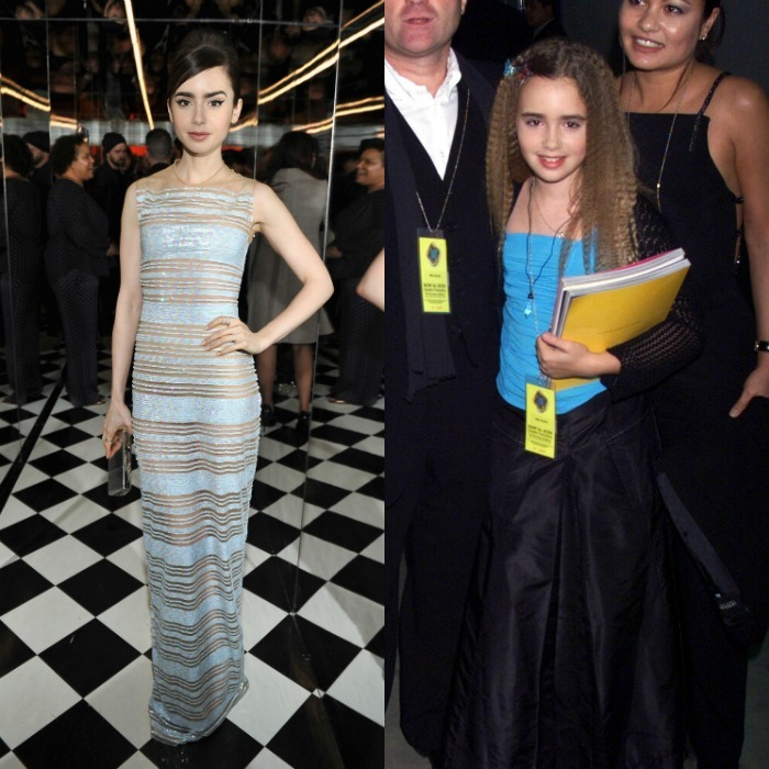 <b>Lily Collins, 2017 vs. 2000</b>
